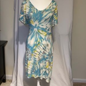 Tommy Bahama Blue and Grey tie-die dress